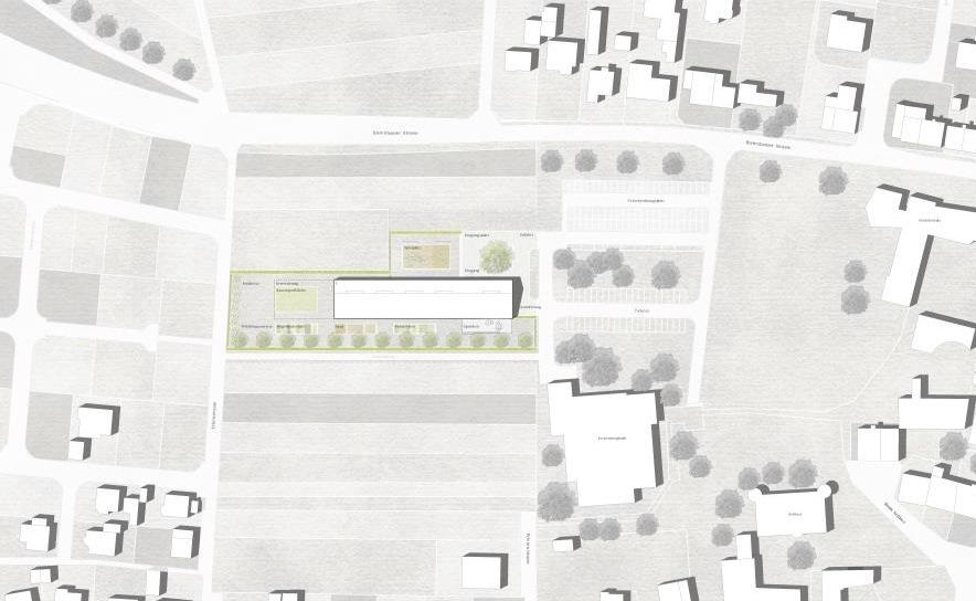 Übersichtsplan Kindergartenneubau im Entwurfsstadium