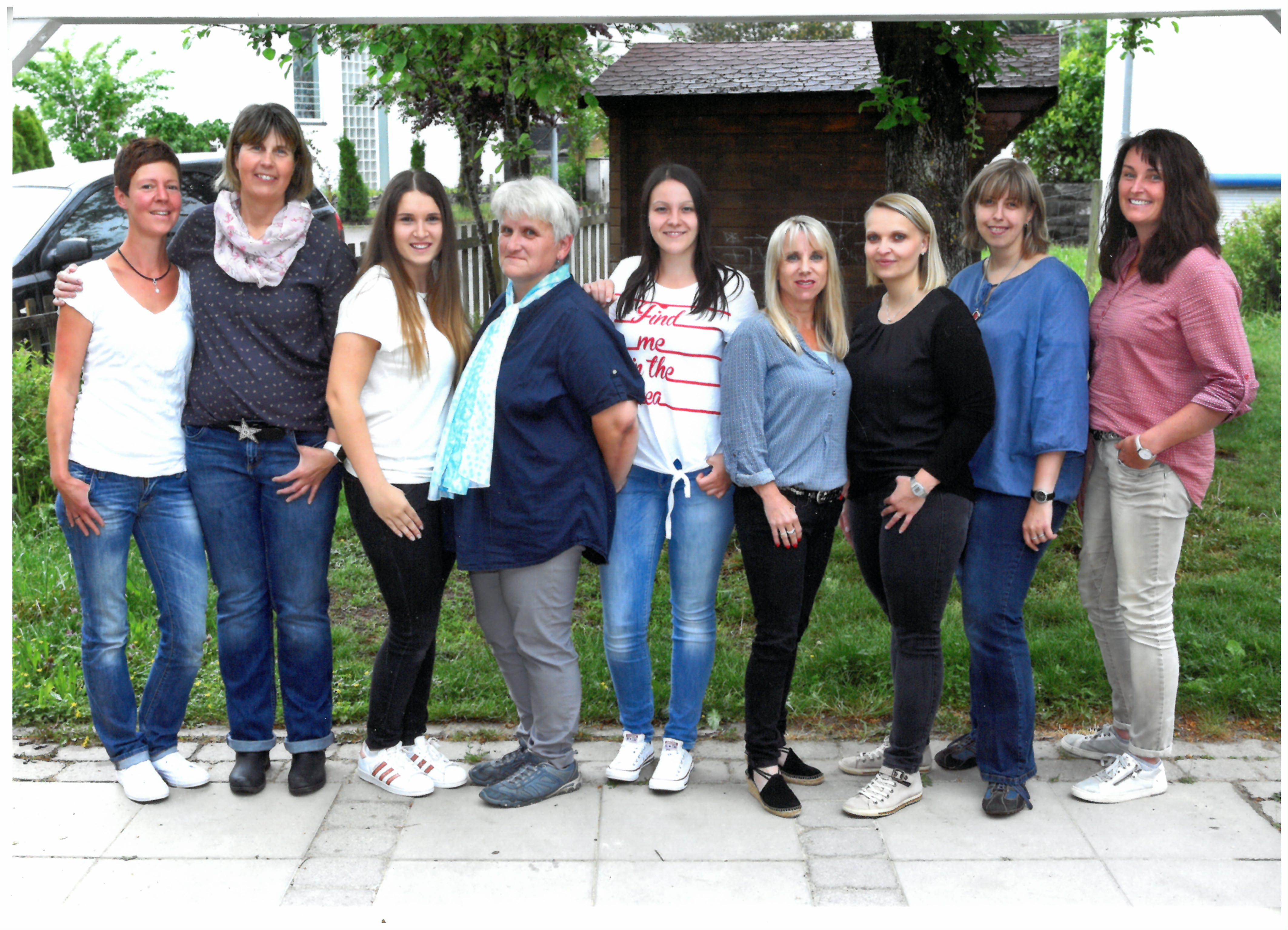 Gruppenbild Personal Kindergarten Wiesenäcker