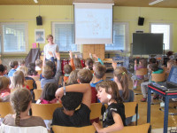 Autorenlesung Charlotte Habersack am 13.04.2018 für die Klassen 1 und 2 der Grundschule Hirrlingen