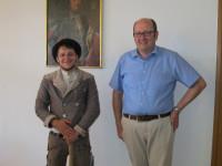 Handwerker Johannes Abart auf der Walz zu Gast im Hirrlinger Rathaus