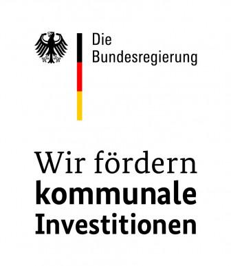 Logo der Bundesregierung - Wir fördern kommunale Investitionen