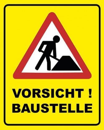 Bild Vorsicht Baustelle